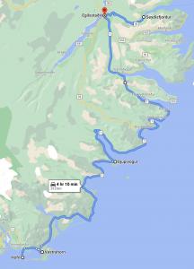 iceland route hofn egilsstadir